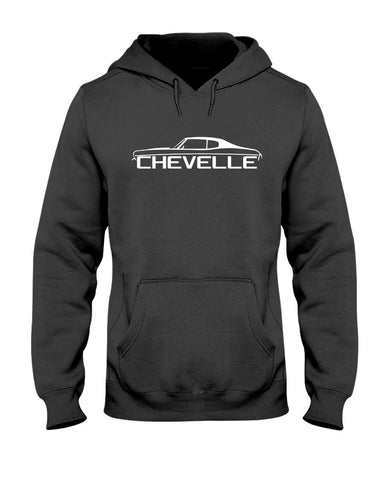 Chevelle american muscle car 1968 chevelle ss 1969 chevelle rs men's graphic pullover hoodie