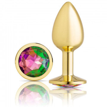Cloud 9 Novelties Anal Gems Jeweled Gold Chromed Anal Plug