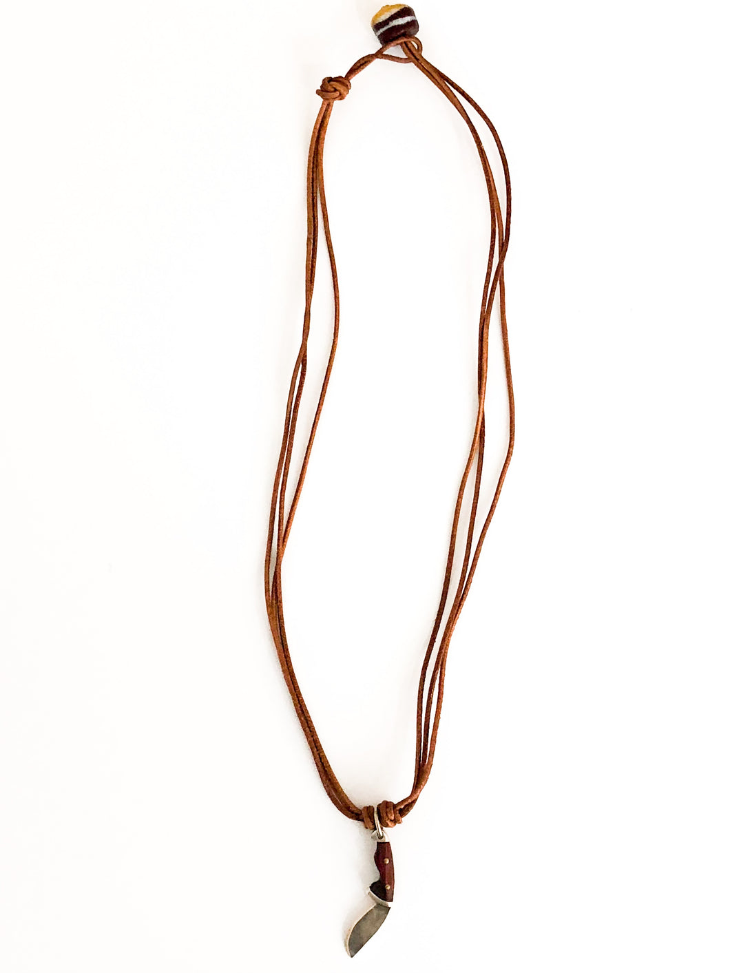 Natural Wood 'Ax' Necklace - Sufi Design