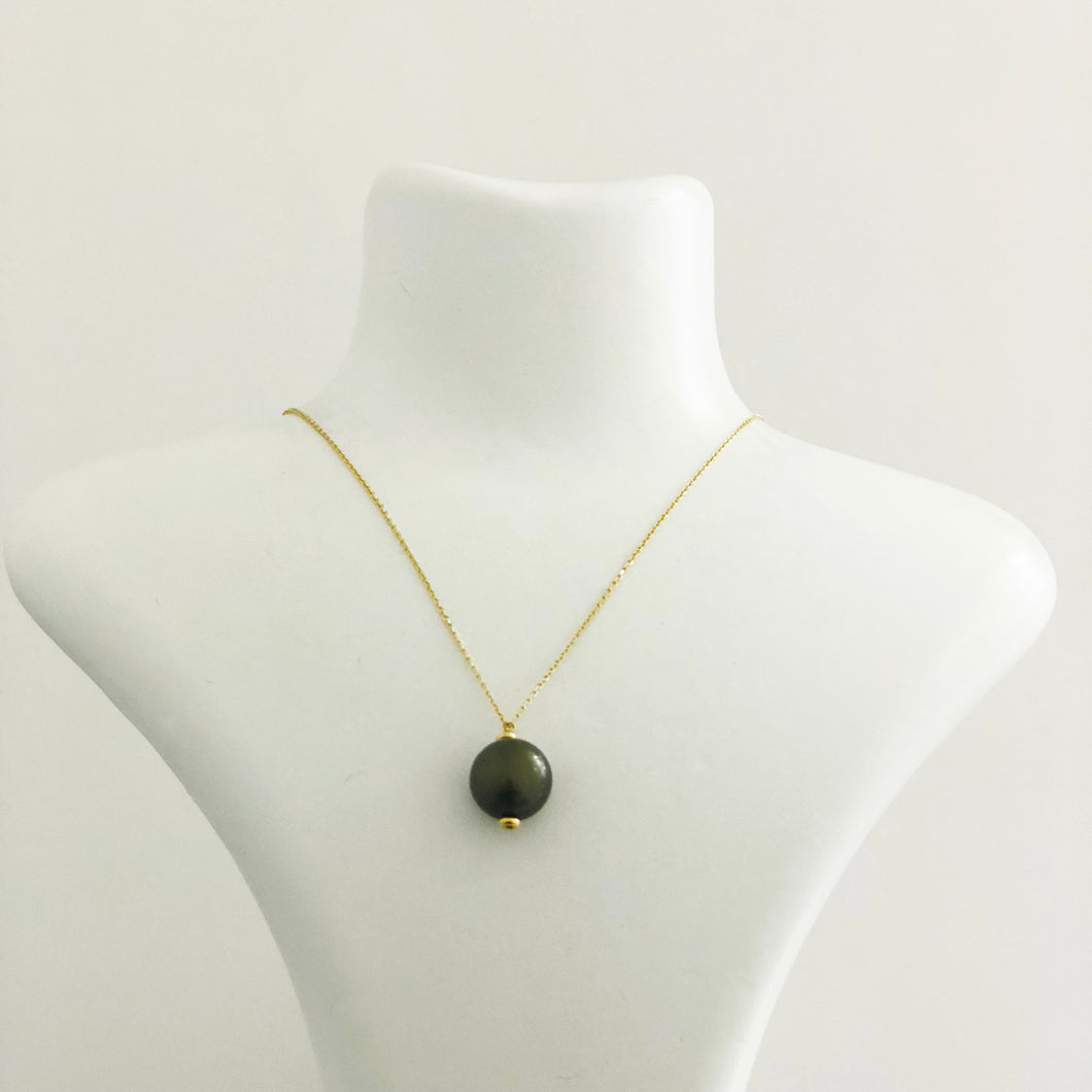 14K Gold Chain Tahitian Pearl Necklace - Sufi Design