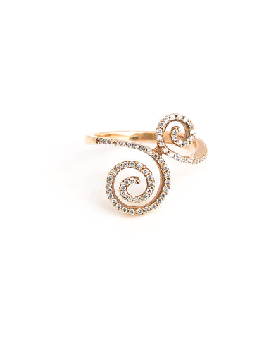 18K Gold Diamond Ring - Sufi Design
