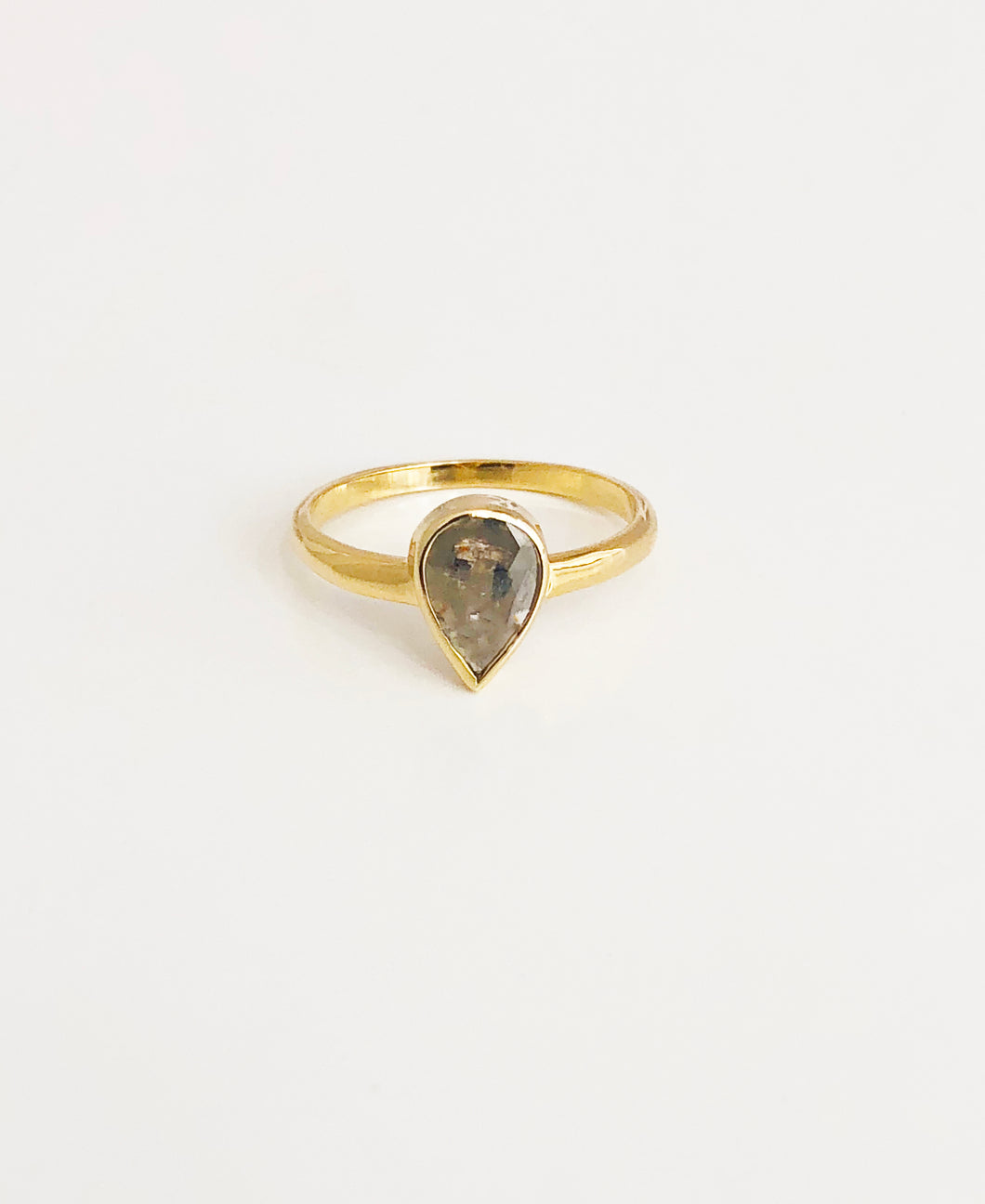 14K Gold Diamond Ring - Sufi Design
