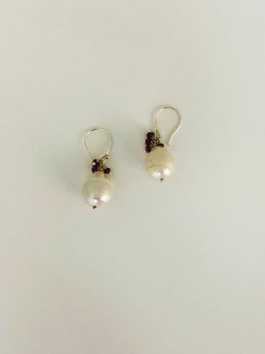 Baroque Pearl Ruby Earring - Sufi Design