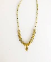 Load image into Gallery viewer, Prehnite & Lemon Quartz Necklace - Sufi Design
