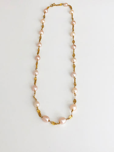 Pink Pearl Necklace - Sufi Design