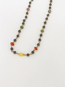 Multi-Colour Brown Pearl Necklace - Sufi Design