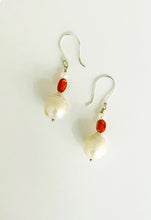 Load image into Gallery viewer, Baroque Pearl Sunstone Earrings - Sufi Design