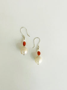 Baroque Pearl Sunstone Earrings - Sufi Design