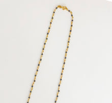 Load image into Gallery viewer, 24K Gold Plated Oxide Silver Necklace - Sufi Design