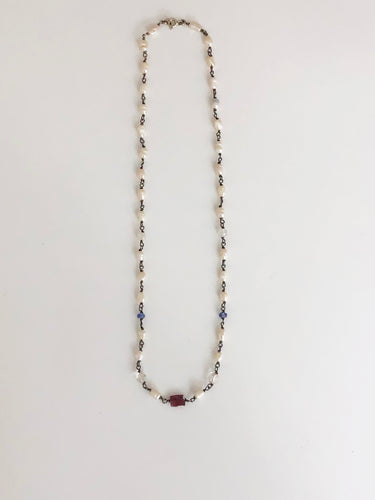Multi-Colour Pearl Necklace - Sufi Design