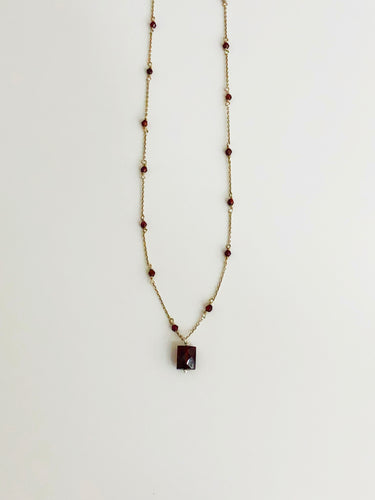 Garnet & Silver Necklace - Sufi Design
