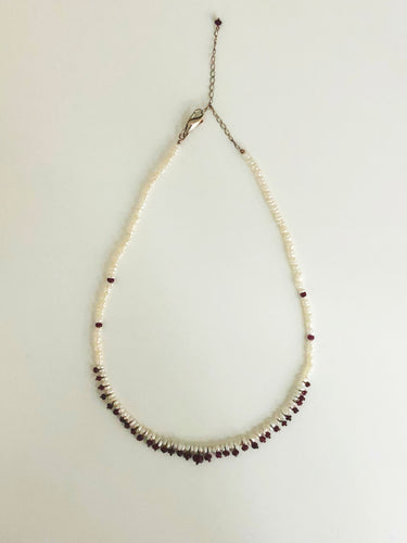 Ruby and Pearl Necklace - Sufi Design