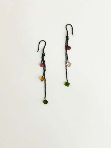 Tourmaline Oxide Earrings - Sufi Design