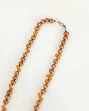 Load image into Gallery viewer, Fire Opal and Brown Pearl Necklace - Sufi Design