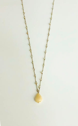 Moonstone Silver Necklace - Sufi Design
