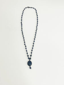 Lapis & Silver Necklace - Sufi Design