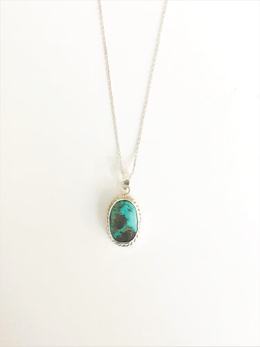 Turquoise Silver Necklace - Sufi Design