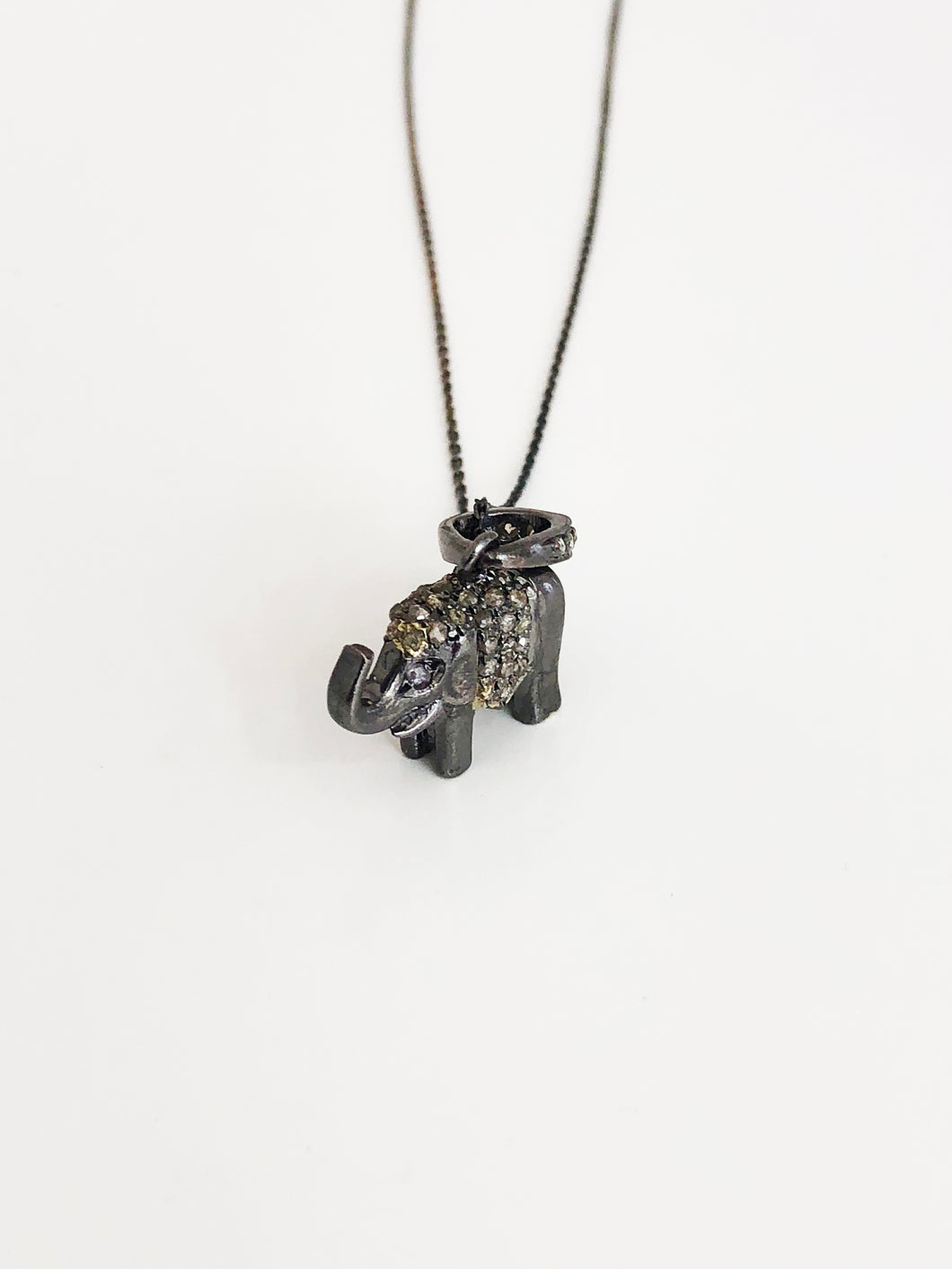 Diamond Elephant Pendant - Sufi Design