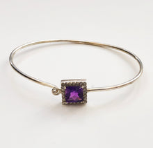 Load image into Gallery viewer, Diamond and Silver Amethyst Bracelet