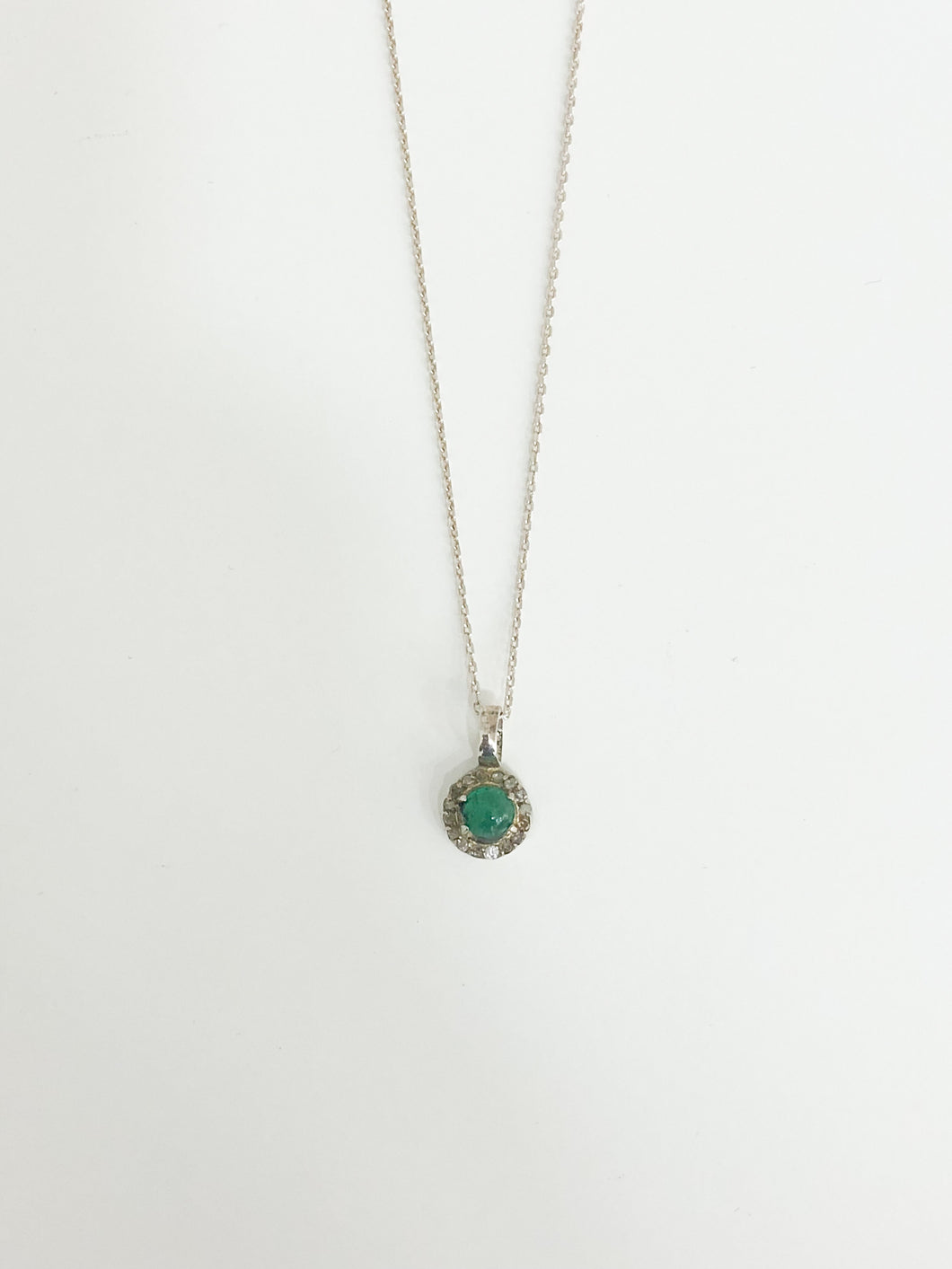 Emerald Diamond Necklace - Sufi Design