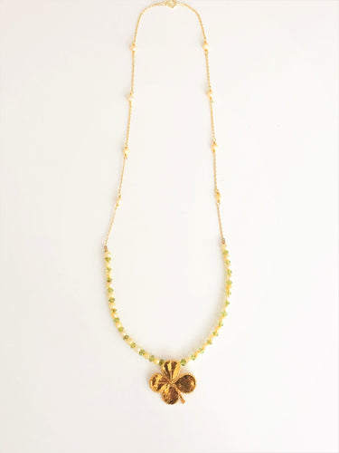 Real Clover Necklace
