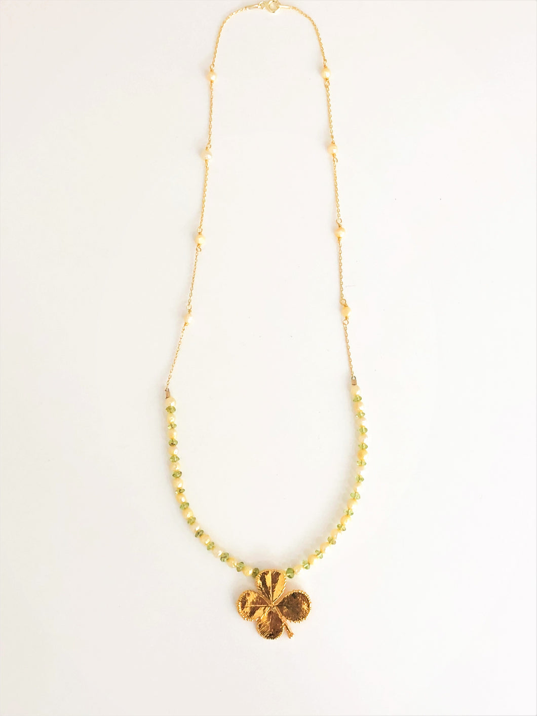 Natural Clover Necklace - Sufi Design