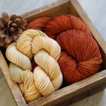 Pumpkin Spice Sock Kit // Voyager Twist // Tendril Hold Hat Kit