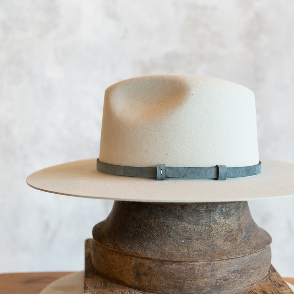 Grey Nubuck Unlined Hat Band