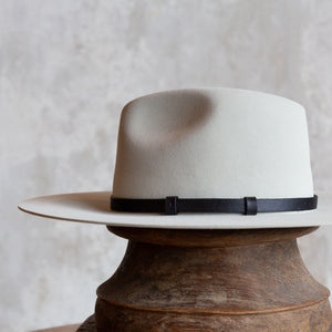 Black Leather Unlined Hat Band (12mm)