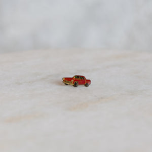 Vintage Car Pin - Red