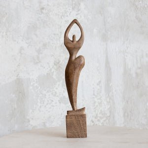 Light Wood Small 'Dancer' Sculpture