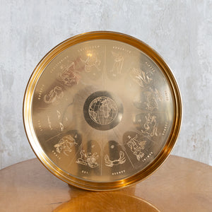 Golden Zodiac Astrological Sign Tray
