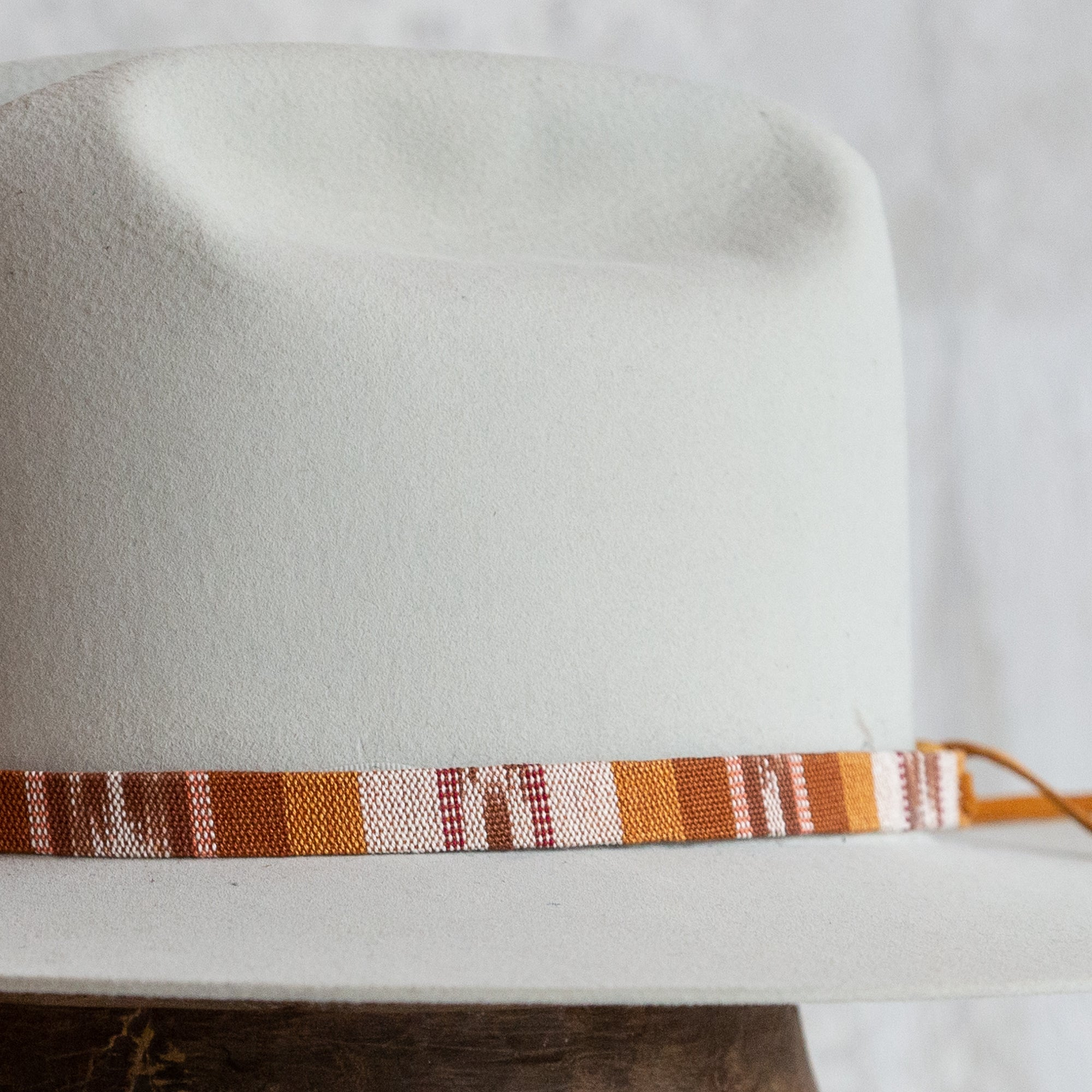 Tapestry Tie Hat Band - Rust Desert Sand
