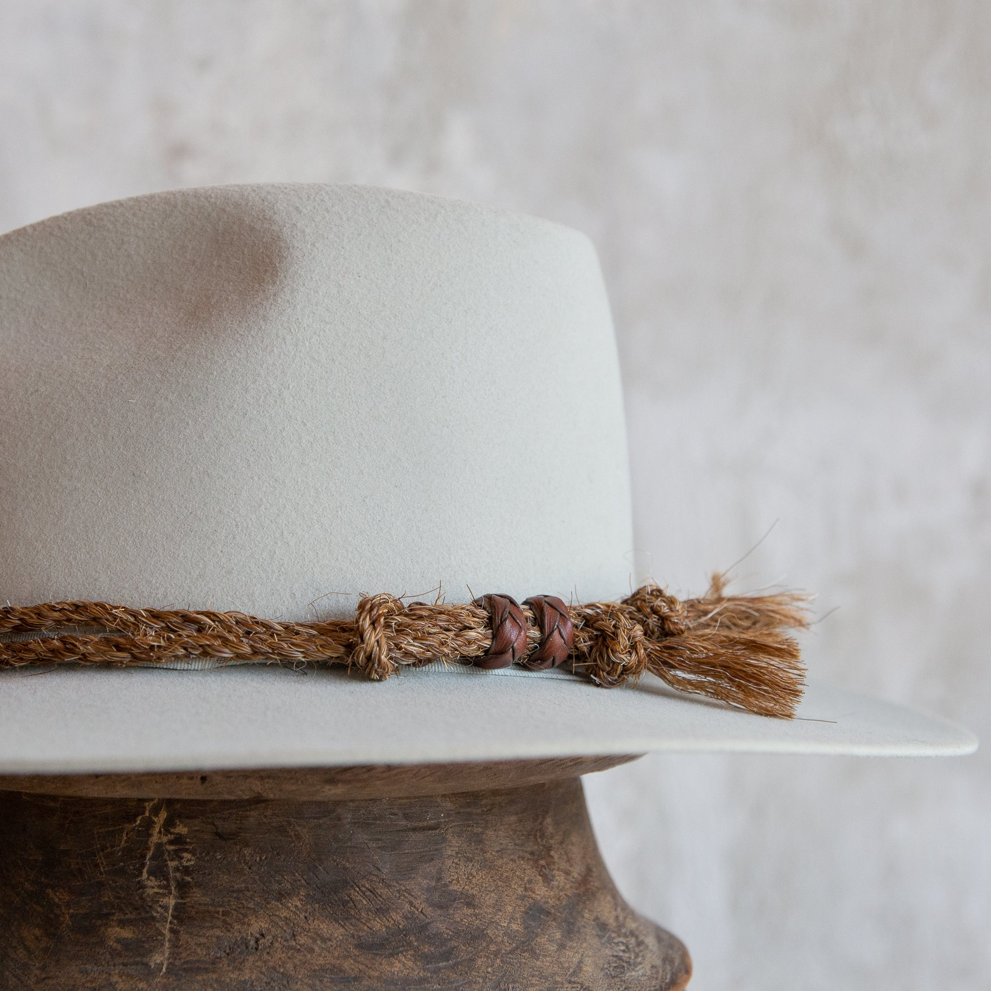 Twisted Rope Horse Hair Hat Band - Brown