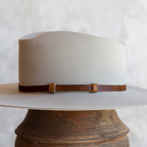 Distressed Brown Lined Leather Hat Band