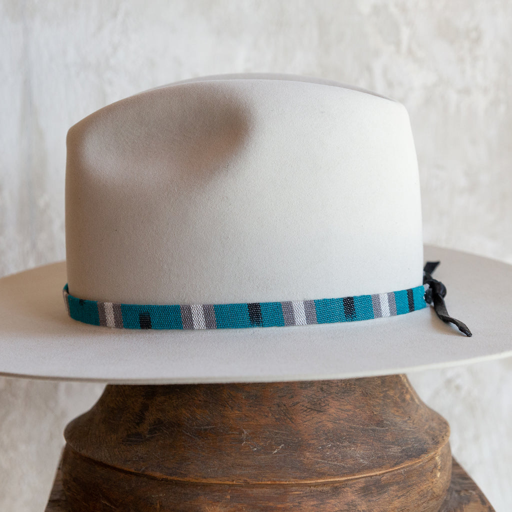 Tapestry Tie Hat Band - Turquoise Stripe