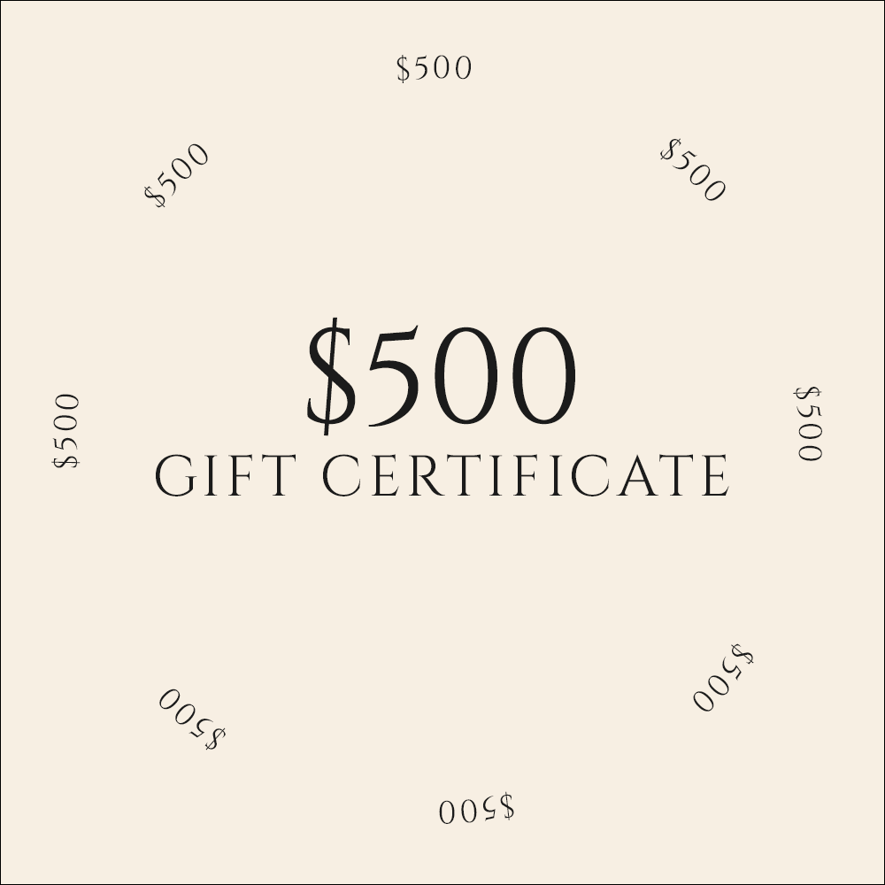 Gift Certificate / $500