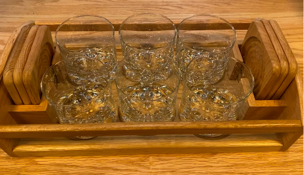 Vintage Bar Set with Coasters