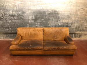 Arne Norell Tan Leather Sofa
