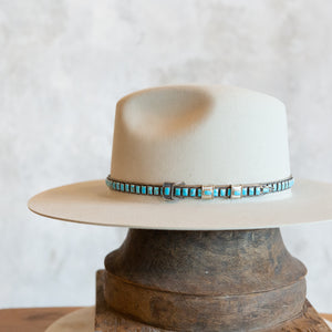 Sterling Silver Blue Turquoise Hat Band