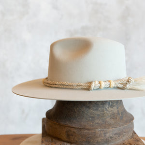 Twisted Rope Horse Hair Hat Band - Cream