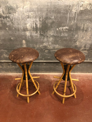 Pair of Tiki Bar Stools