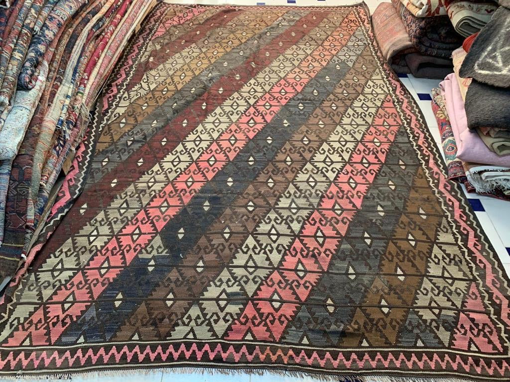 Diamond Diagonal Kars Kilim