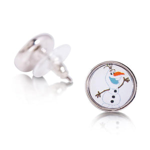 Disney Frozen White Gold-Plated Olaf Snowman Picture Earrings - Couture Kingdom Benelux Bijoux Juwelen Disney Store Charm Bracelet Ketting Collier Oorbellen Boucles d'oreilles Earrings mickey mouse minnie mouse mary poppins dumbo la bella et la bete fée Clochette Alice au pays des merveilles pandora disney swarovski disney bijou cristal