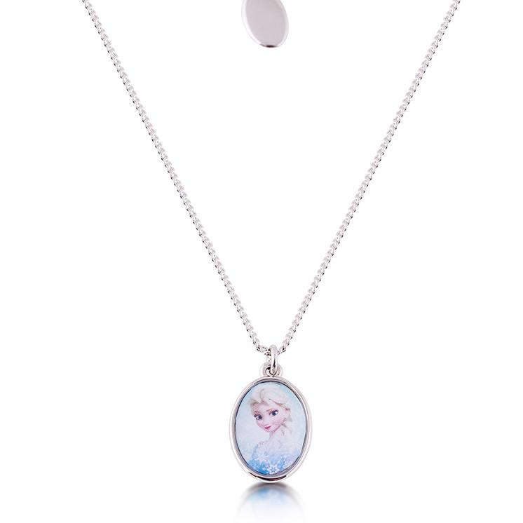 Kids Disney Frozen Elsa Necklace - Couture Kingdom Benelux Bijoux Juwelen Disney Store Charm Bracelet Ketting Collier Oorbellen Boucles d'oreilles Necklace mickey mouse minnie mouse mary poppins dumbo la bella et la bete fée Clochette Alice au pays des merveilles pandora disney swarovski disney bijou cristal