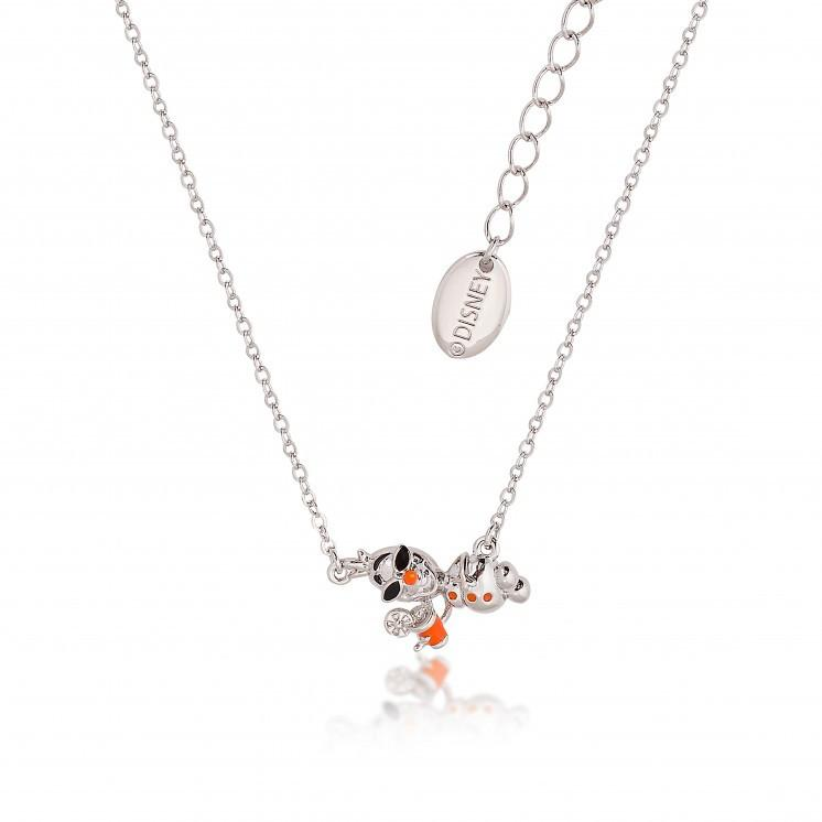 Disney White-Gold Plated Frozen Summer Olaf Snowman Necklace - Couture Kingdom Benelux Bijoux Juwelen Disney Store Charm Bracelet Ketting Collier Oorbellen Boucles d'oreilles Necklace mickey mouse minnie mouse mary poppins dumbo la bella et la bete fée Clochette Alice au pays des merveilles pandora disney swarovski disney bijou cristal