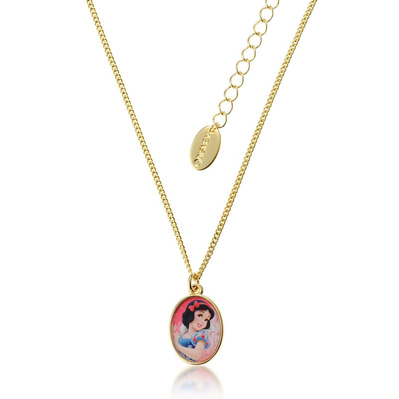 Kids Disney Princess Snow White Necklace - Couture Kingdom Benelux Bijoux Juwelen Disney Store Charm Bracelet Ketting Collier Oorbellen Boucles d'oreilles Necklace mickey mouse minnie mouse mary poppins dumbo la bella et la bete fée Clochette Alice au pays des merveilles pandora disney swarovski disney bijou cristal