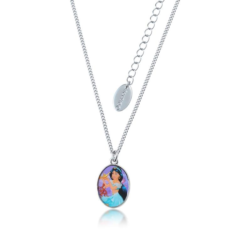 Kids Disney Aladdin Princess Jasmine Necklace - Couture Kingdom Benelux Bijoux Juwelen Disney Store Charm Bracelet Ketting Collier Oorbellen Boucles d'oreilles Necklace mickey mouse minnie mouse mary poppins dumbo la bella et la bete fée Clochette Alice au pays des merveilles pandora disney swarovski disney bijou cristal