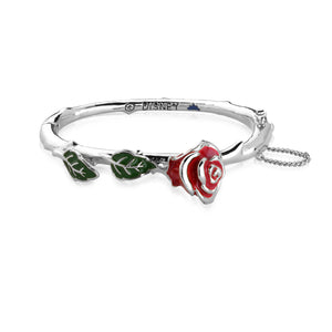 Disney Beauty and the Beast Enchanted Rose Bangle - Couture Kingdom Benelux Bijoux Juwelen Disney Store Charm Bracelet Ketting Collier Oorbellen Boucles d'oreilles Bangle mickey mouse minnie mouse mary poppins dumbo la bella et la bete fée Clochette Alice au pays des merveilles pandora disney swarovski disney bijou cristal