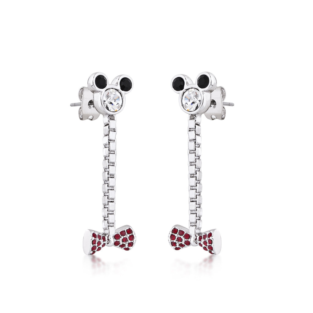 Disney Minnie Mouse Bow Drop Earrings - Couture Kingdom Benelux Bijoux Juwelen Disney Store Charm Bracelet Ketting Collier Oorbellen Boucles d'oreilles Earrings mickey mouse minnie mouse mary poppins dumbo la bella et la bete fée Clochette Alice au pays des merveilles pandora disney swarovski disney bijou cristal